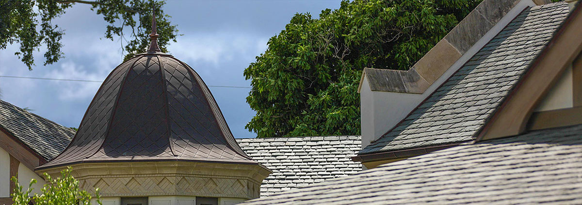 copper decorative roof