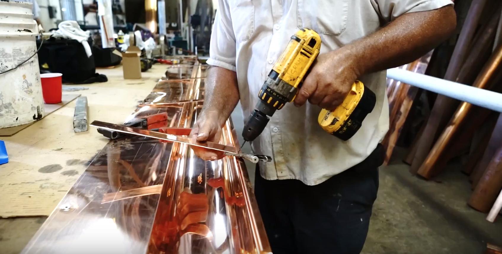 custom copper gutters 2